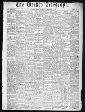 Primary view of object titled 'The Weekly Telegraph (Houston, Tex.), Vol. 22, No. 27, Ed. 1 Wednesday, September 17, 1856'.