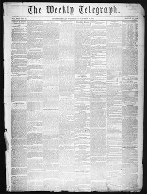 Primary view of The Weekly Telegraph (Houston, Tex.), Vol. 22, No. 29, Ed. 1 Wednesday, October 8, 1856