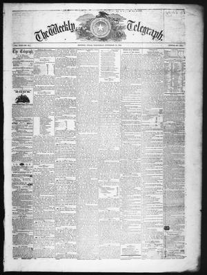 The Weekly Telegraph (Houston, Tex.), Vol. 22, No. 34, Ed. 1 Wednesday, November 12, 1856