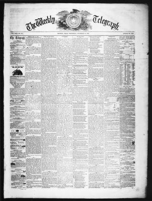 The Weekly Telegraph (Houston, Tex.), Vol. 22, No. 35, Ed. 1 Wednesday, November 19, 1856