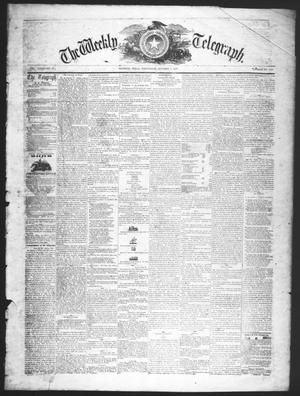 The Weekly Telegraph (Houston, Tex.), Vol. 23, No. 29, Ed. 1 Wednesday, October 7, 1857