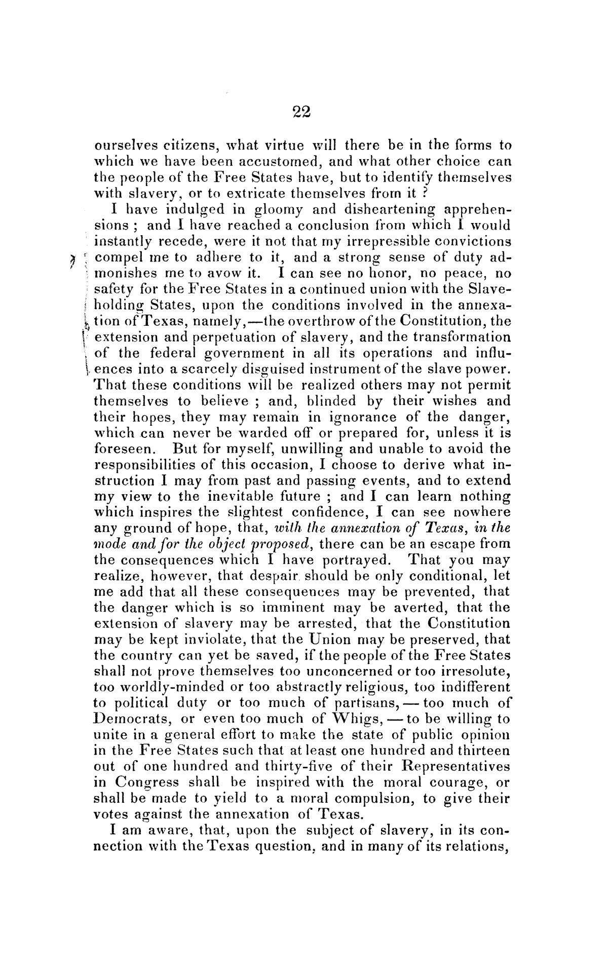 Address on the annexation of Texas, and the aspect of slavery in the United States, in connection therewith: delivered in Boston November 14 and 18, 1845                                                                                                      [Sequence #]: 22 of 56