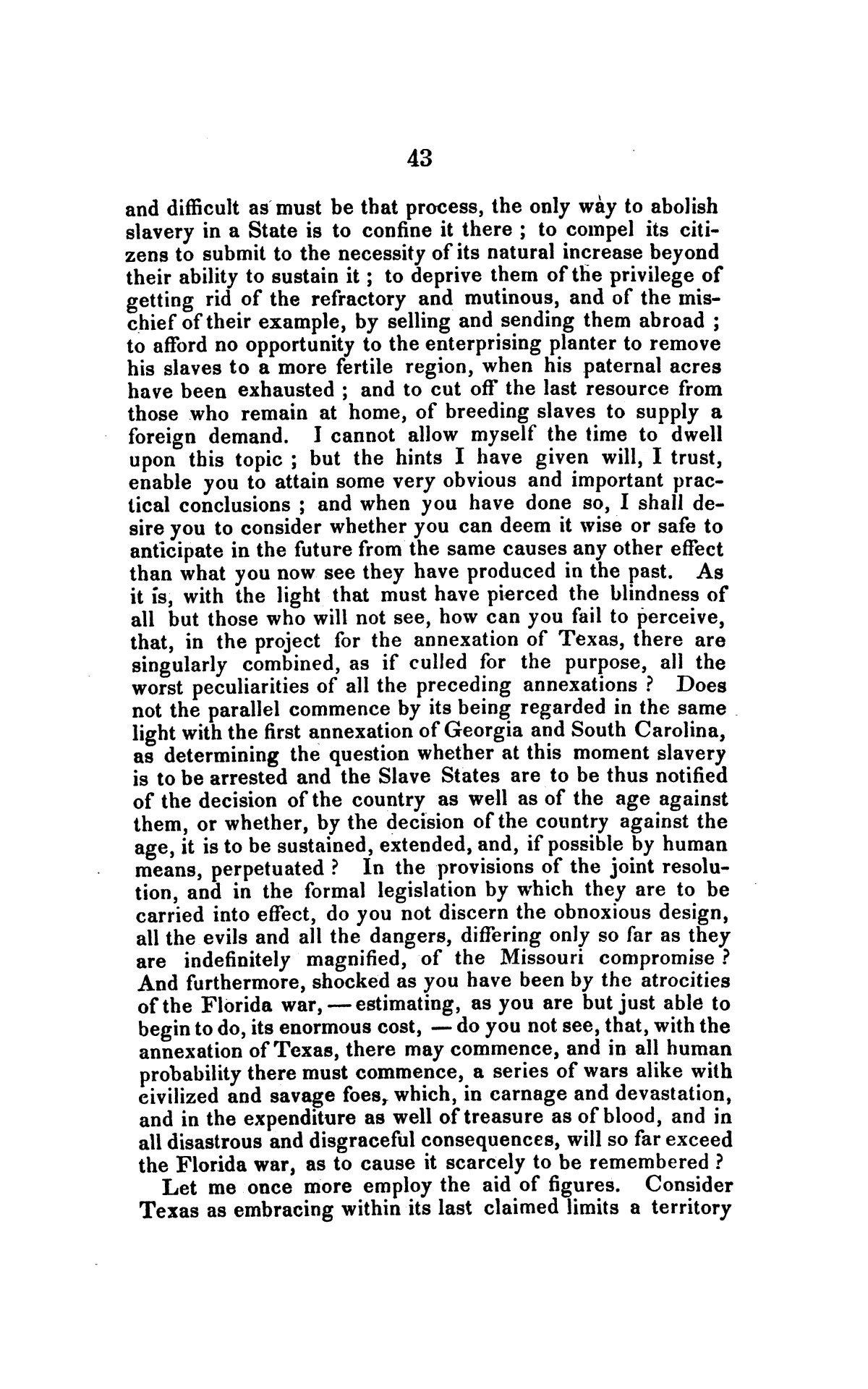 Address on the annexation of Texas, and the aspect of slavery in the United States, in connection therewith: delivered in Boston November 14 and 18, 1845                                                                                                      [Sequence #]: 43 of 56