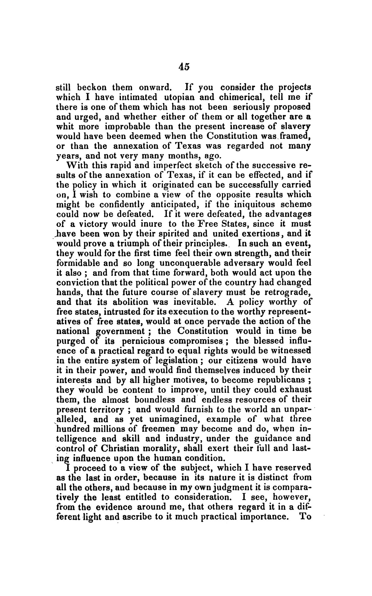 Address on the annexation of Texas, and the aspect of slavery in the United States, in connection therewith: delivered in Boston November 14 and 18, 1845                                                                                                      [Sequence #]: 45 of 56