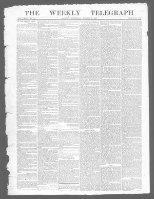 Primary view of object titled 'The Weekly Telegraph (Houston, Tex.), Vol. 28, No. 32, Ed. 1 Wednesday, October 22, 1862'.