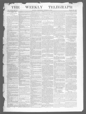 Primary view of object titled 'The Weekly Telegraph (Houston, Tex.), Vol. 28, No. 33, Ed. 1 Wednesday, October 29, 1862'.