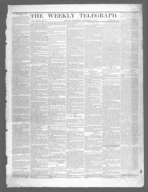 The Weekly Telegraph (Houston, Tex.), Vol. 28, No. 36, Ed. 1 Wednesday, November 19, 1862