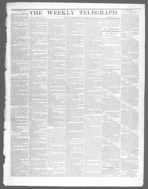 Primary view of object titled 'The Weekly Telegraph (Houston, Tex.), Vol. 28, No. 38, Ed. 1 Wednesday, December 3, 1862'.