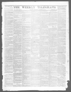 Primary view of object titled 'The Weekly Telegraph (Houston, Tex.), Vol. 28, No. 39, Ed. 1 Wednesday, December 10, 1862'.