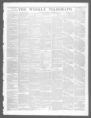 Primary view of object titled 'The Weekly Telegraph (Houston, Tex.), Vol. 28, No. 40, Ed. 1 Wednesday, December 17, 1862'.
