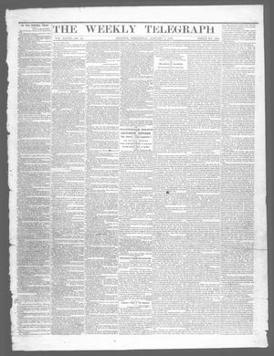 Primary view of object titled 'The Weekly Telegraph (Houston, Tex.), Vol. 28, No. 43, Ed. 1 Wednesday, January 7, 1863'.