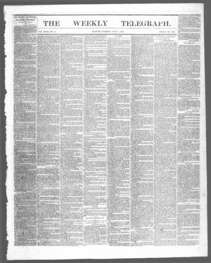 Primary view of The Weekly Telegraph (Houston, Tex.), Vol. 29, No. 15, Ed. 1 Tuesday, July 7, 1863