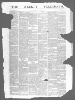 Primary view of object titled 'The Weekly Telegraph (Houston, Tex.), Vol. 29, No. 40, Ed. 1 Tuesday, December 29, 1863'.