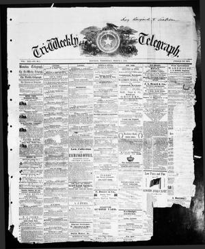 Primary view of object titled 'Tri-Weekly Telegraph (Houston, Tex.), Vol. 21, No. 96, Ed. 1 Wednesday, March 2, 1859'.