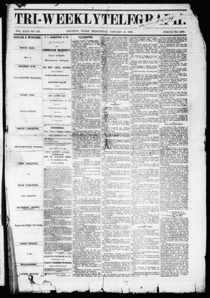 Primary view of object titled 'Tri-Weekly Telegraph (Houston, Tex.), Vol. 31, No. 142, Ed. 1 Wednesday, January 31, 1866'.
