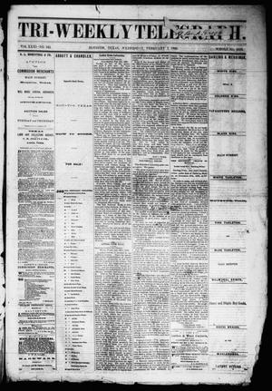 Primary view of object titled 'Tri-Weekly Telegraph (Houston, Tex.), Vol. 31, No. 145, Ed. 1 Wednesday, February 7, 1866'.