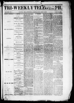 Primary view of object titled 'Tri-Weekly Telegraph (Houston, Tex.), Vol. 32, No. 1, Ed. 1 Wednesday, March 28, 1866'.
