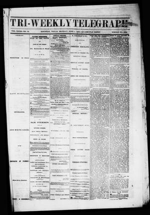 Primary view of object titled 'Tri-Weekly Telegraph (Houston, Tex.), Vol. 32, No. 34, Ed. 1 Monday, June 4, 1866'.