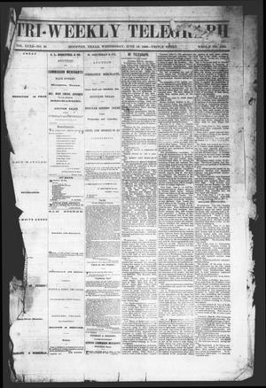Primary view of object titled 'Tri-Weekly Telegraph (Houston, Tex.), Vol. 32, No. 38, Ed. 1 Wednesday, June 13, 1866'.