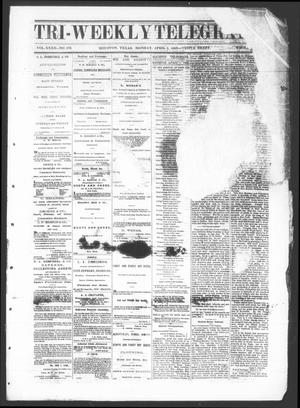 Primary view of object titled 'Tri-Weekly Telegraph (Houston, Tex.), Vol. 32, No. 162, Ed. 1 Monday, April 1, 1867'.