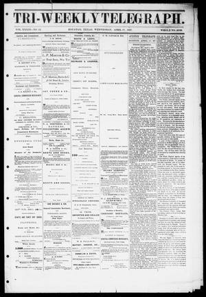 Primary view of object titled 'Tri-Weekly Telegraph (Houston, Tex.), Vol. 33, No. 13, Ed. 1 Wednesday, April 17, 1867'.