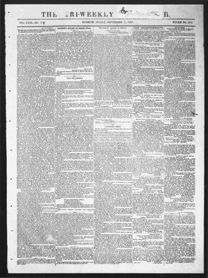Primary view of object titled 'The Tri-Weekly Telegraph (Houston, Tex.), Vol. 29, No. 75, Ed. 1 Friday, September 11, 1863'.