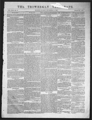 Primary view of object titled 'The Tri-Weekly Telegraph (Houston, Tex.), Vol. 29, No. 82, Ed. 1 Monday, September 28, 1863'.