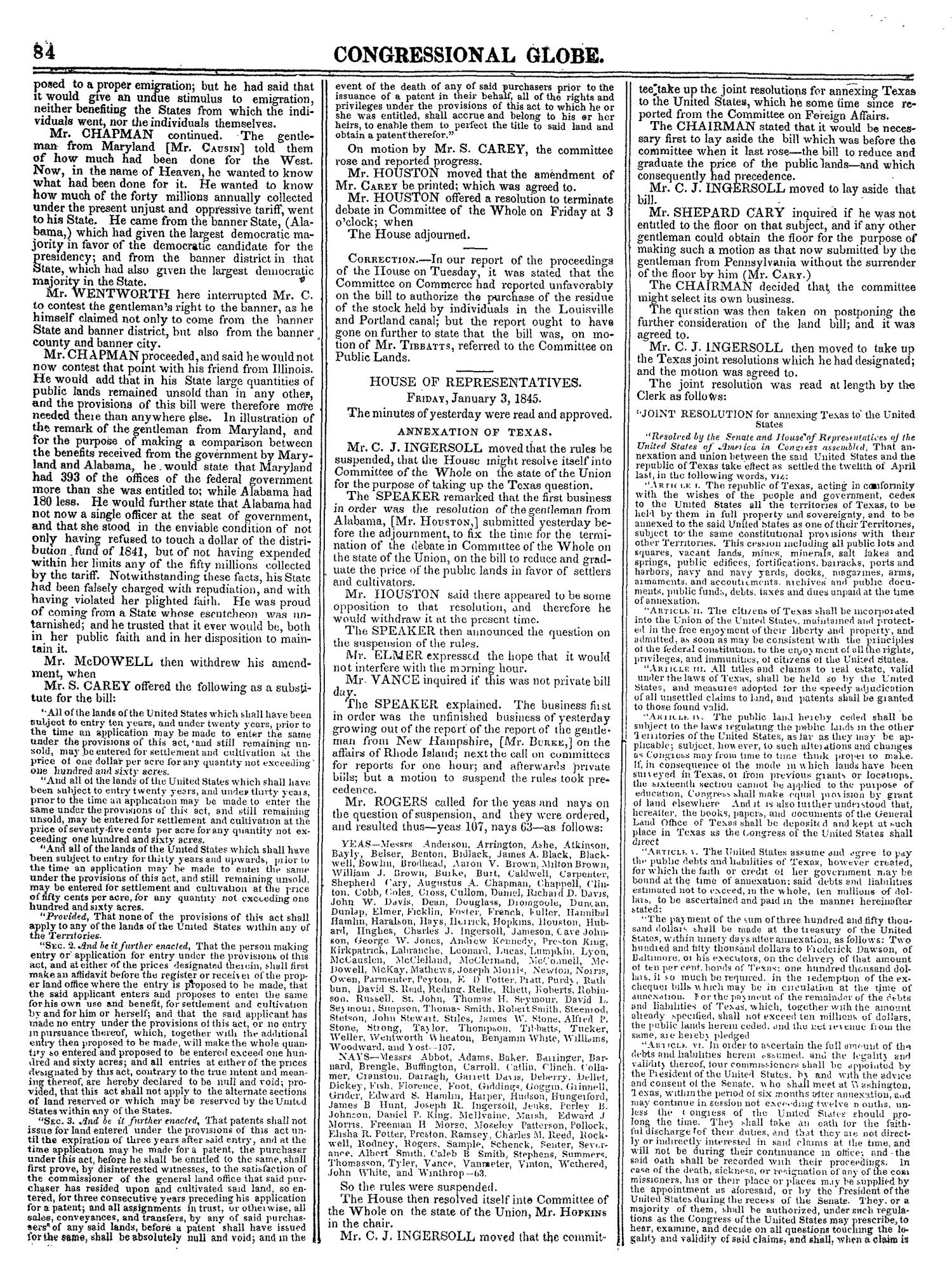 The Congressional Globe, Volume 14: Twenty-Eighth Congress, Second Session                                                                                                      84