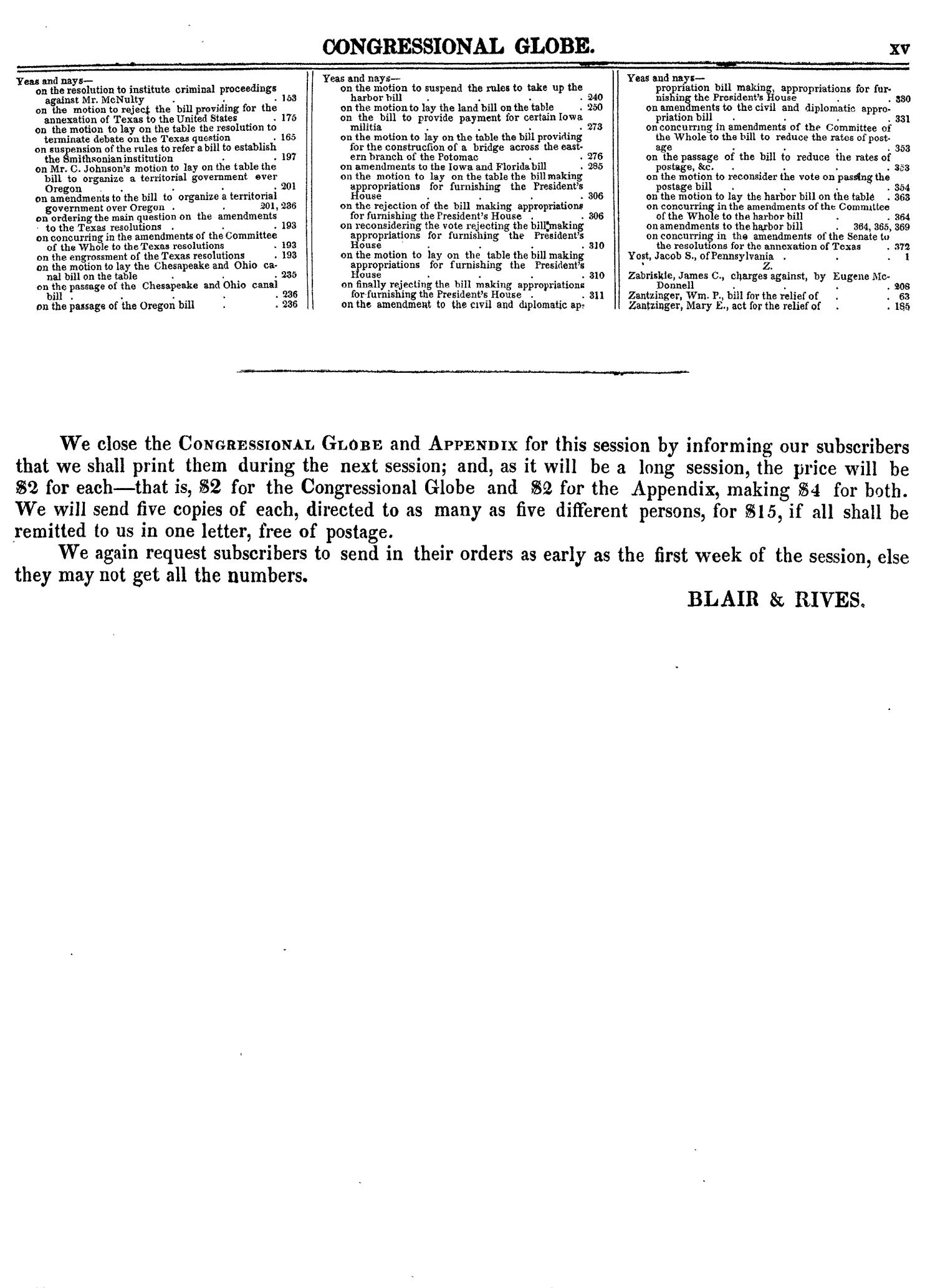 The Congressional Globe, Volume 14: Twenty-Eighth Congress, Second Session                                                                                                      XV