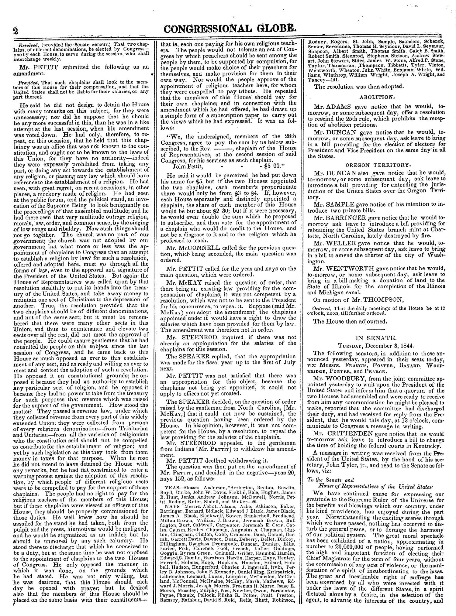 The Congressional Globe, Volume 14: Twenty-Eighth Congress, Second Session                                                                                                      2