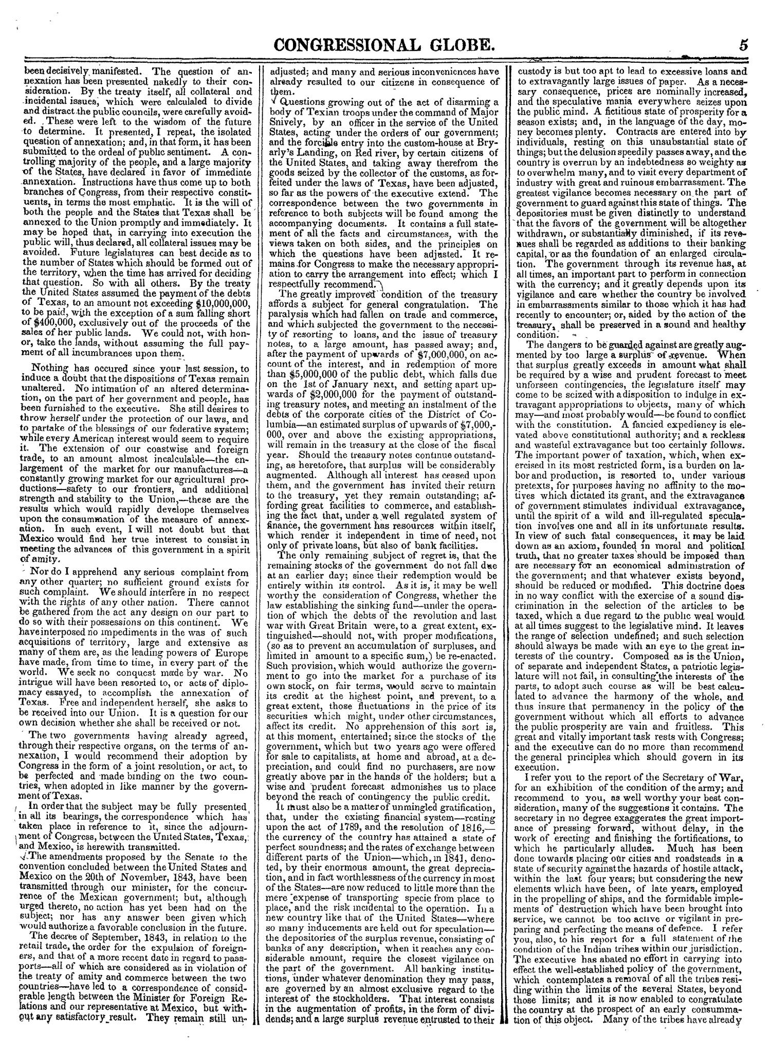 The Congressional Globe, Volume 14: Twenty-Eighth Congress, Second Session                                                                                                      5
