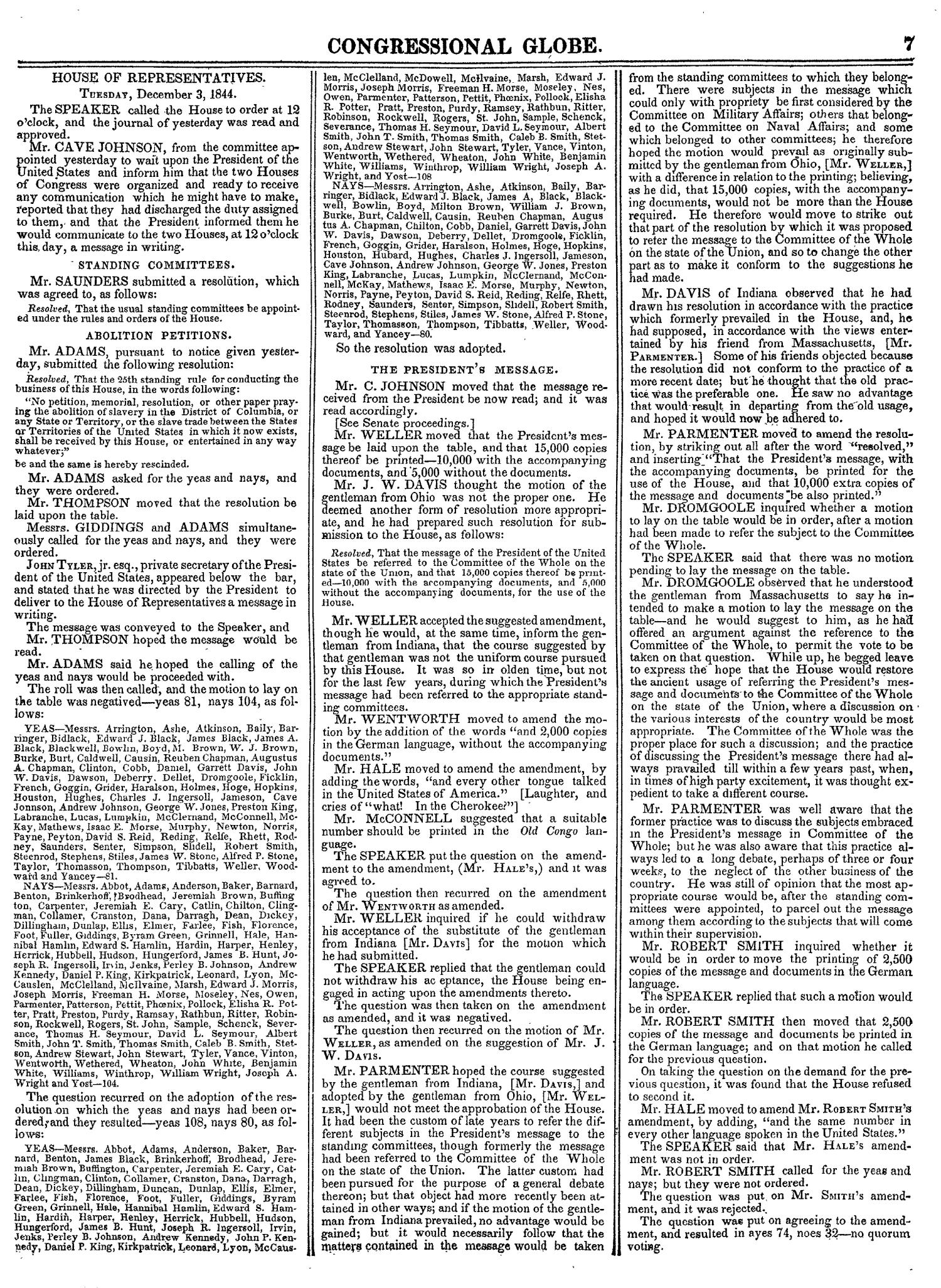The Congressional Globe, Volume 14: Twenty-Eighth Congress, Second Session                                                                                                      7