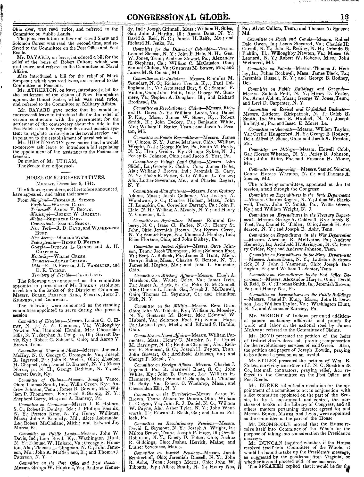The Congressional Globe, Volume 14: Twenty-Eighth Congress, Second Session                                                                                                      13