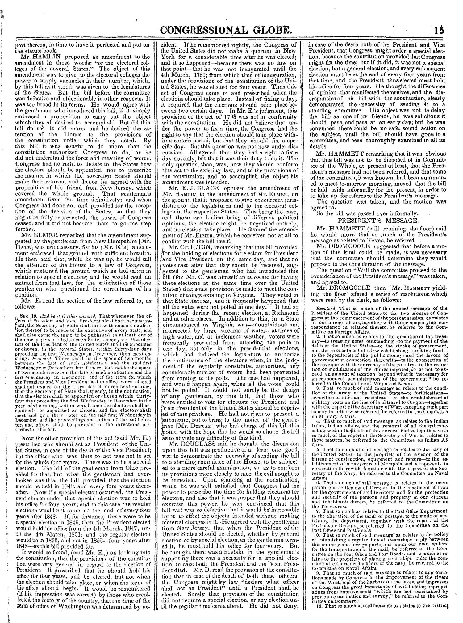 The Congressional Globe, Volume 14: Twenty-Eighth Congress, Second Session                                                                                                      15
