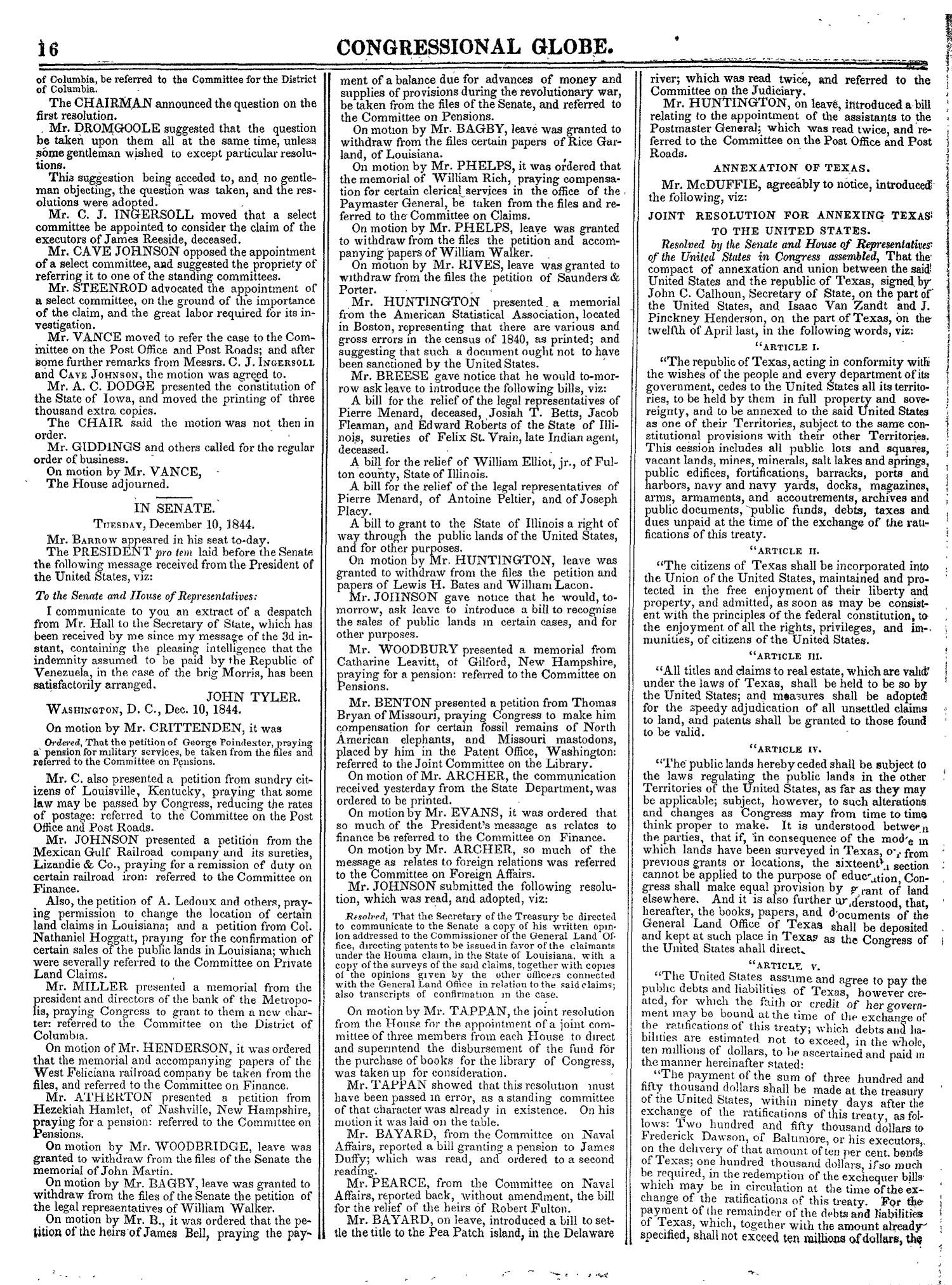 The Congressional Globe, Volume 14: Twenty-Eighth Congress, Second Session                                                                                                      16