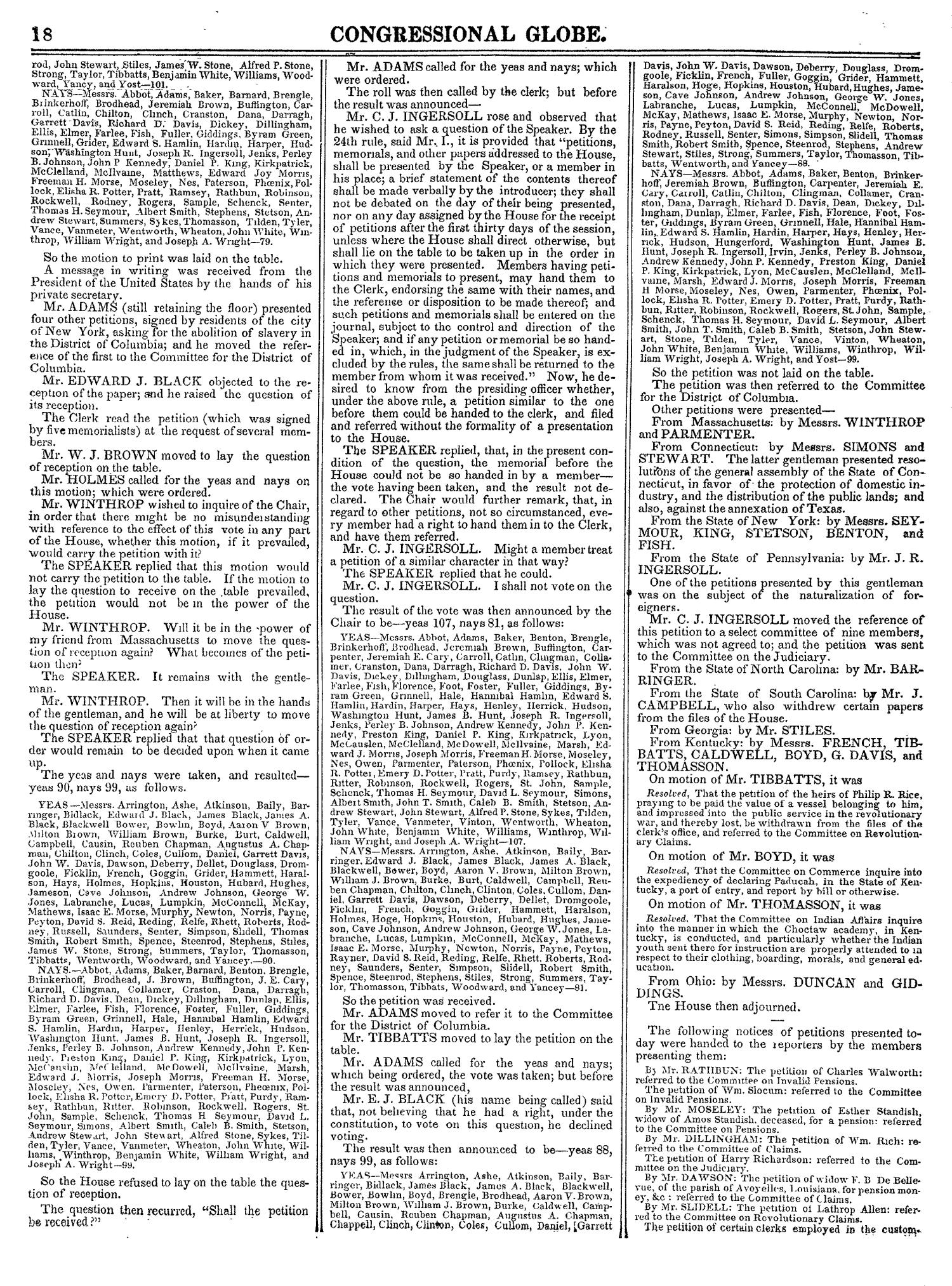 The Congressional Globe, Volume 14: Twenty-Eighth Congress, Second Session                                                                                                      18