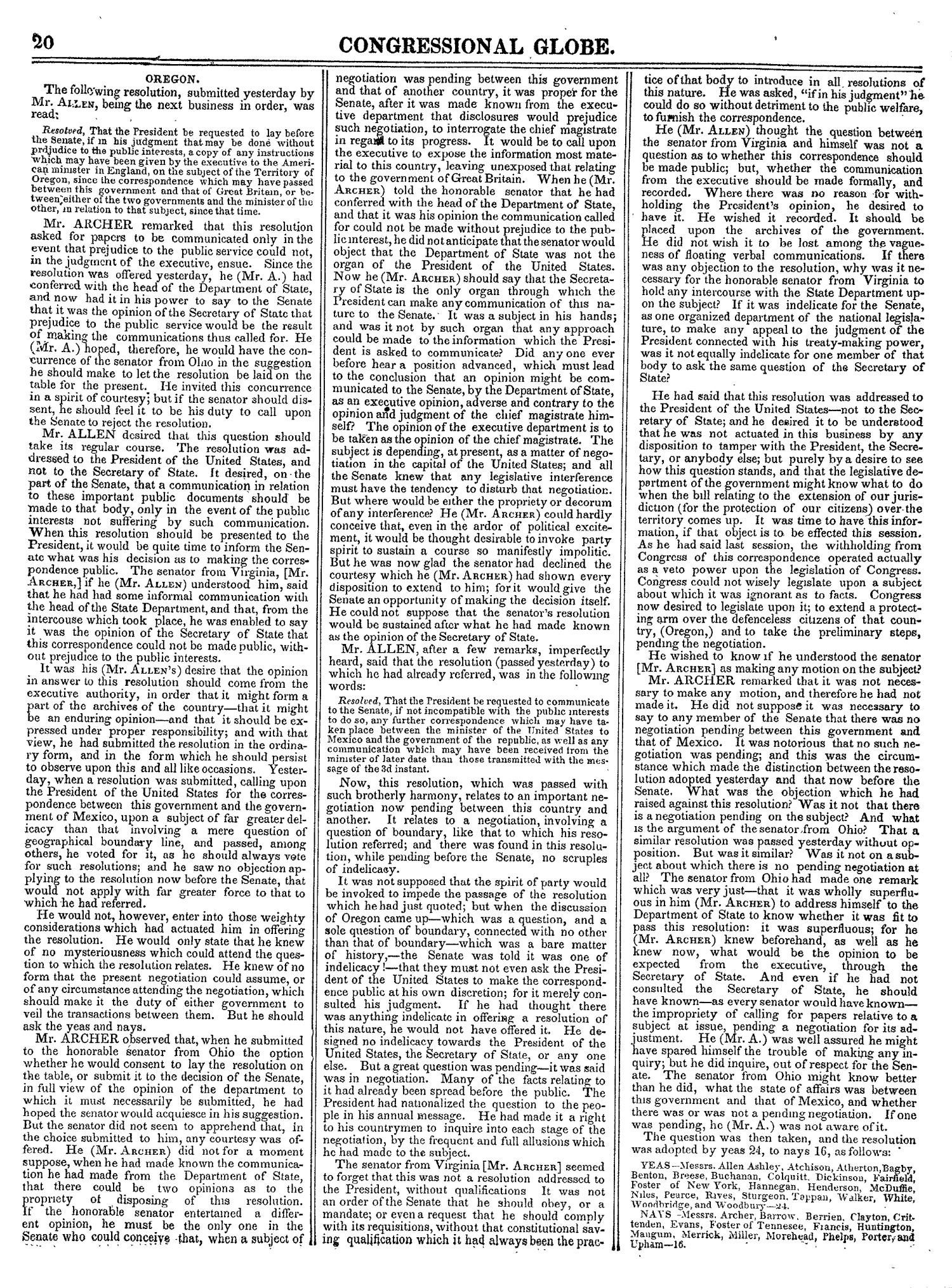The Congressional Globe, Volume 14: Twenty-Eighth Congress, Second Session                                                                                                      20