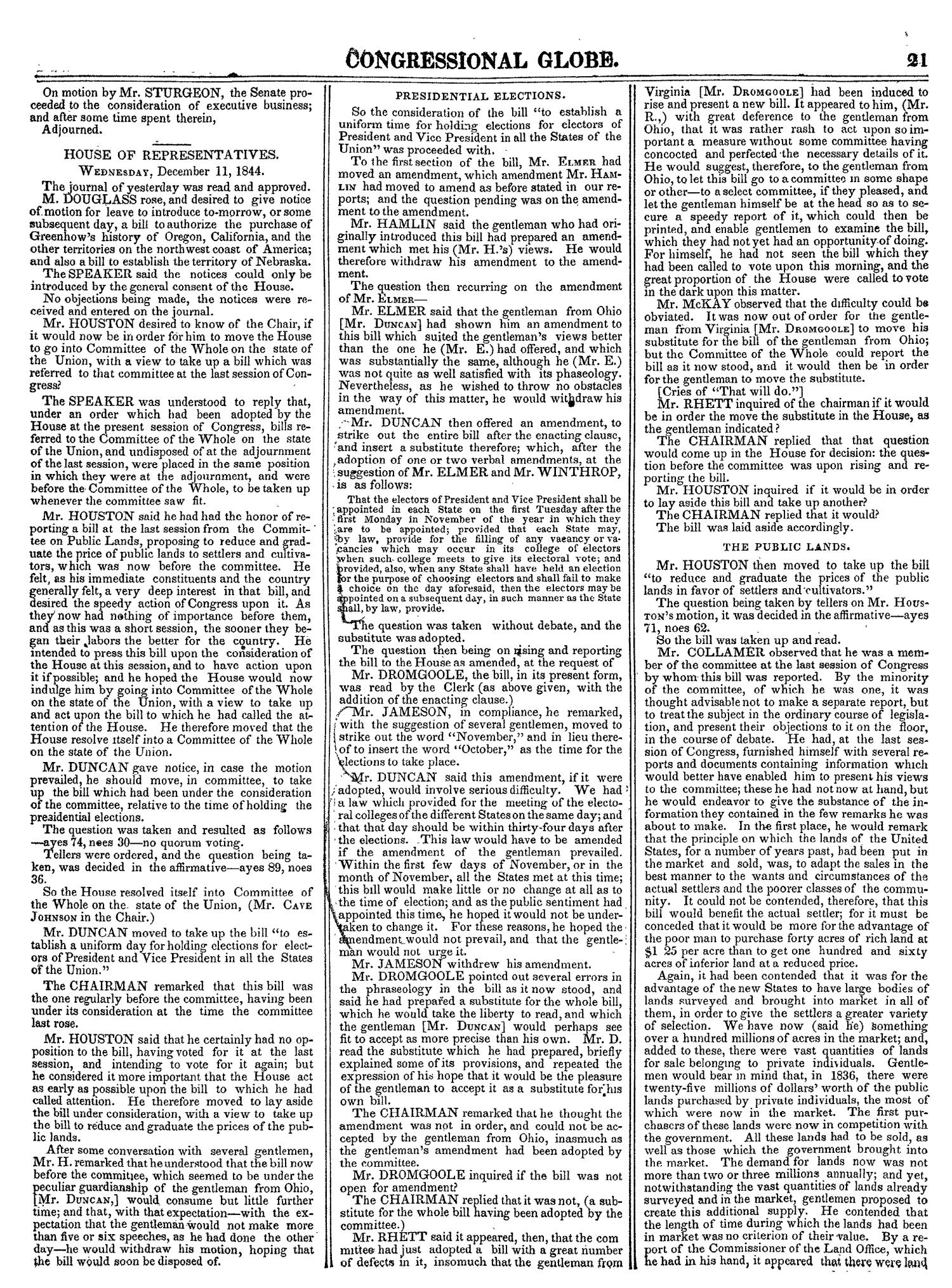 The Congressional Globe, Volume 14: Twenty-Eighth Congress, Second Session                                                                                                      21