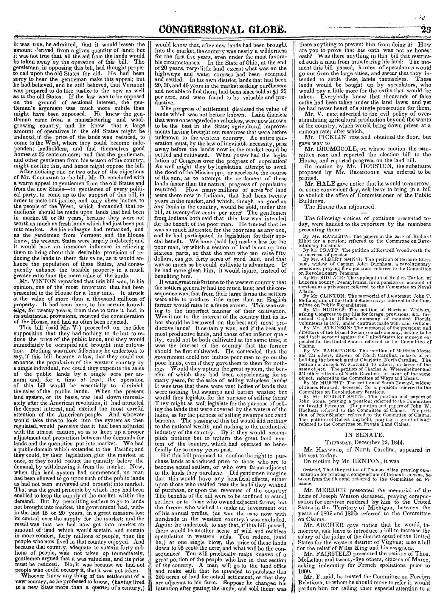 The Congressional Globe, Volume 14: Twenty-Eighth Congress, Second Session                                                                                                      23