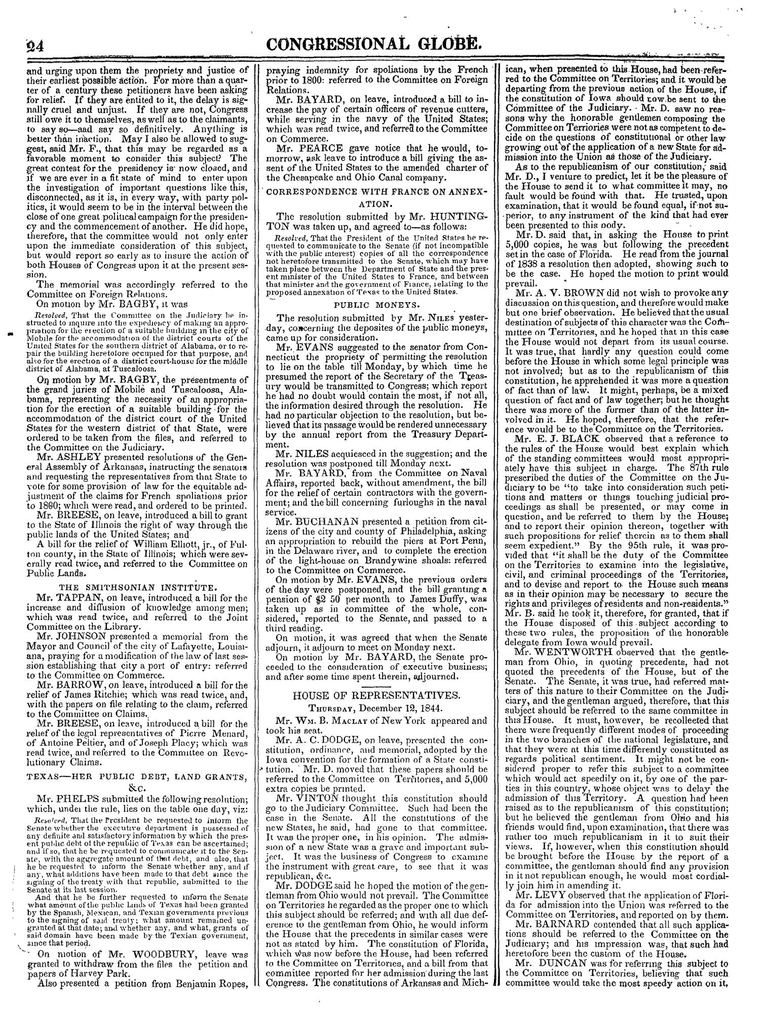 The Congressional Globe, Volume 14: Twenty-Eighth Congress, Second Session                                                                                                      24