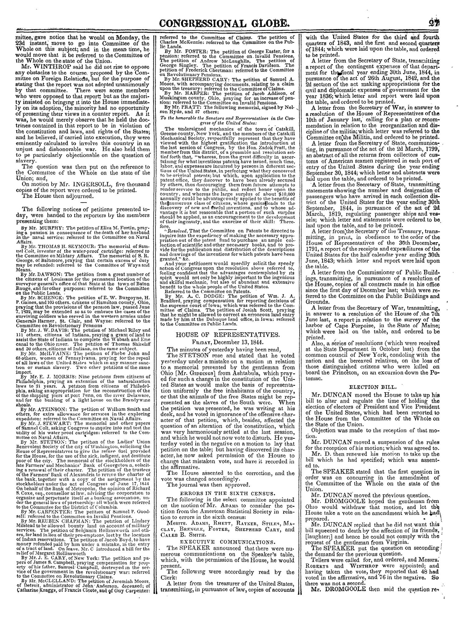 The Congressional Globe, Volume 14: Twenty-Eighth Congress, Second Session                                                                                                      27