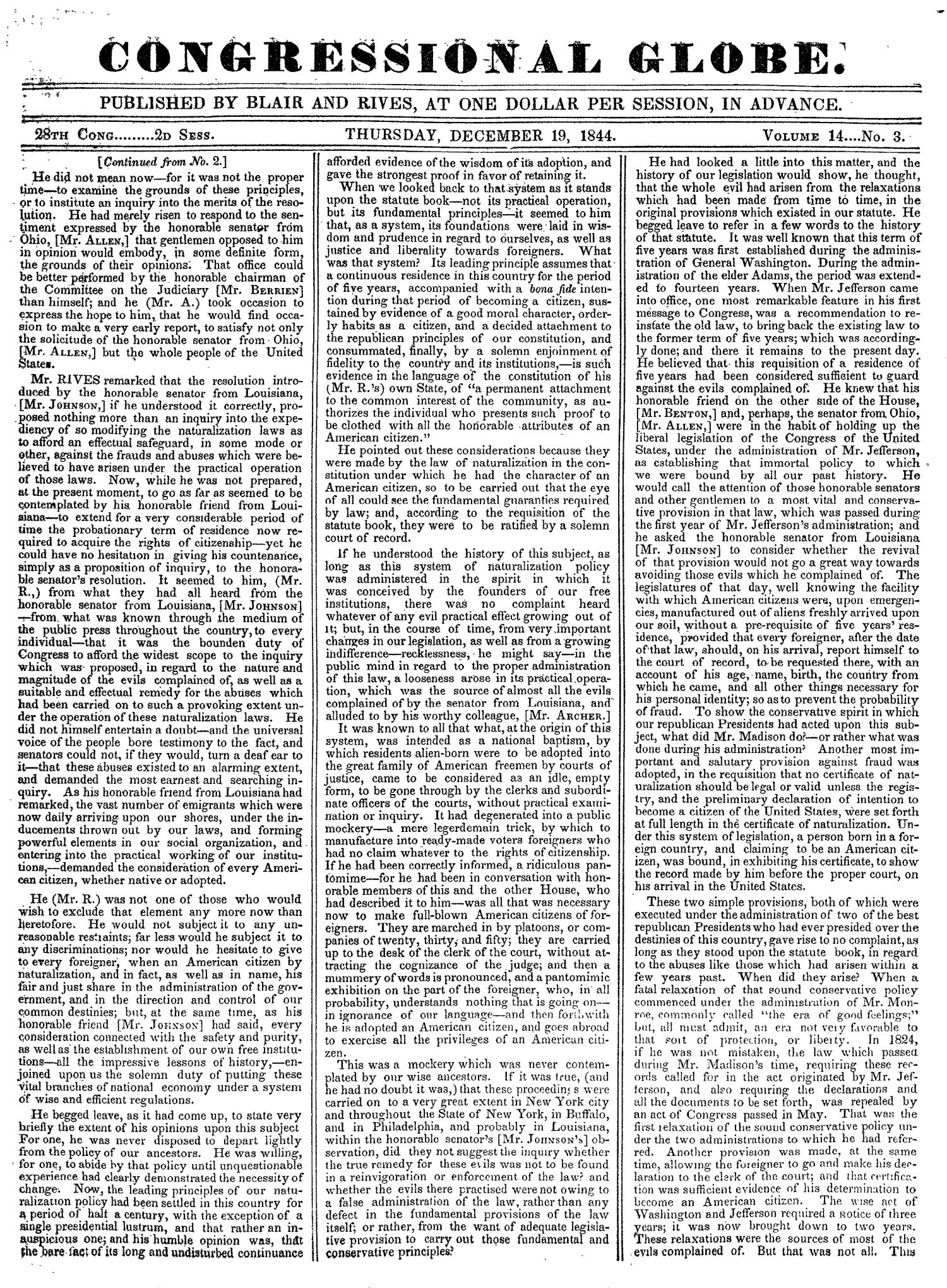 The Congressional Globe, Volume 14: Twenty-Eighth Congress, Second Session                                                                                                      None