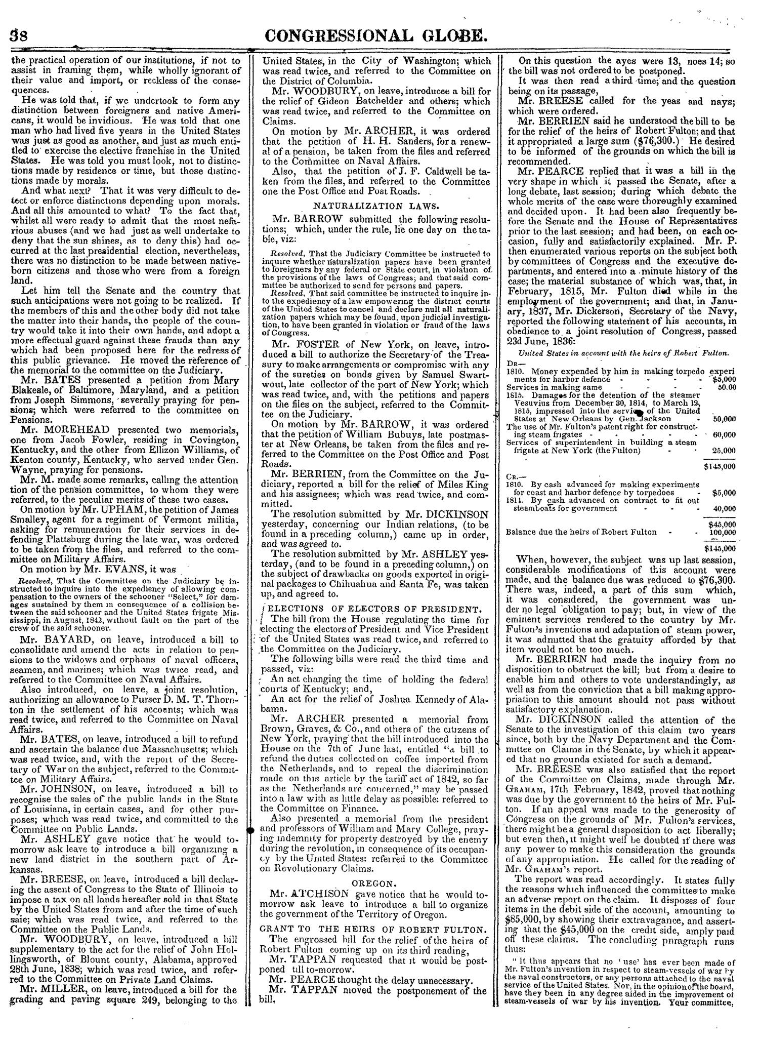 The Congressional Globe, Volume 14: Twenty-Eighth Congress, Second Session                                                                                                      38