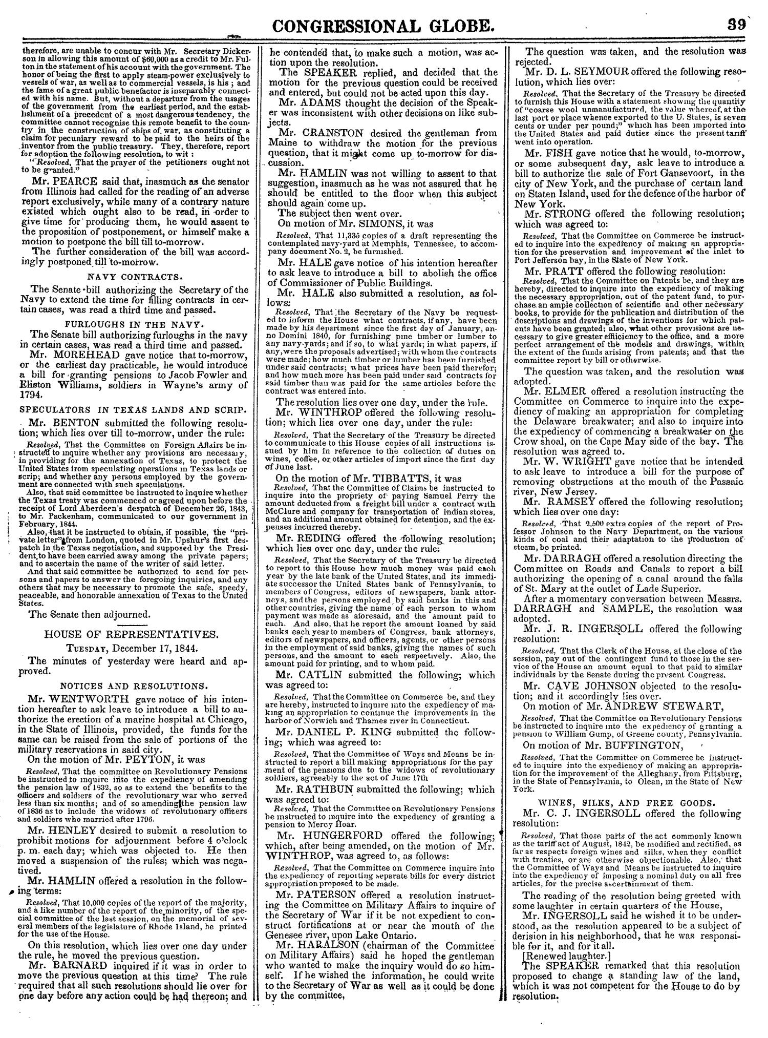 The Congressional Globe, Volume 14: Twenty-Eighth Congress, Second Session                                                                                                      39