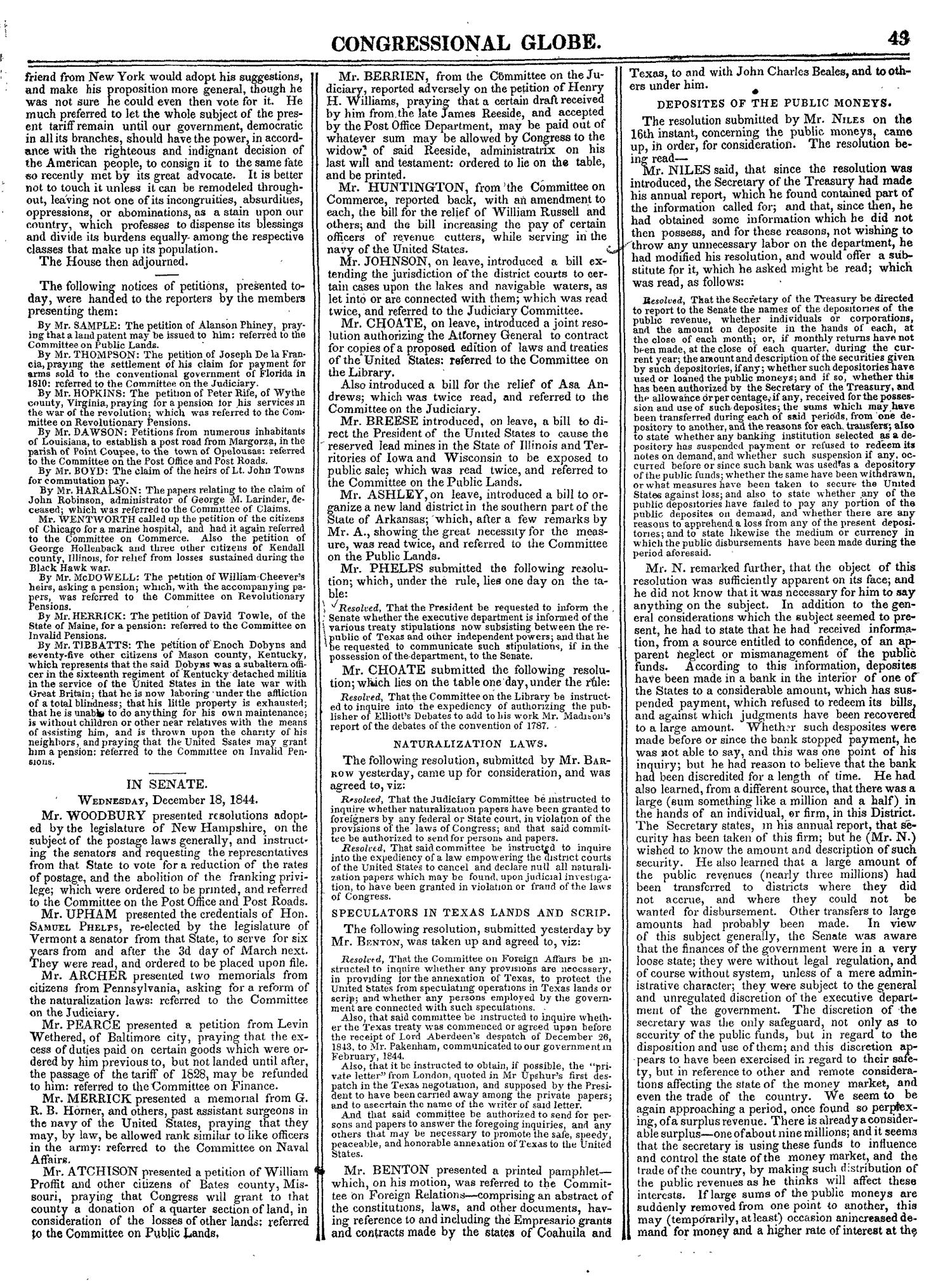 The Congressional Globe, Volume 14: Twenty-Eighth Congress, Second Session                                                                                                      43