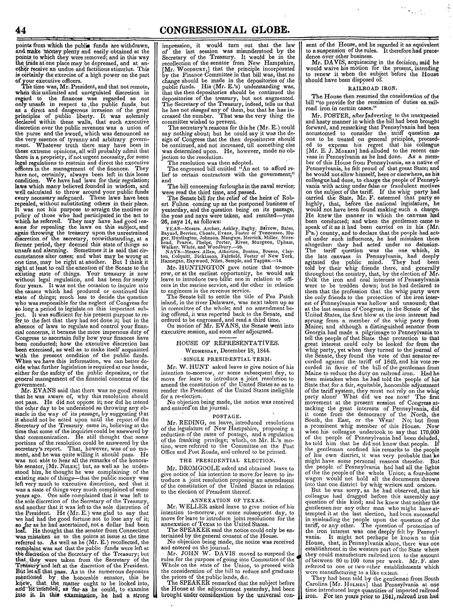 The Congressional Globe, Volume 14: Twenty-Eighth Congress, Second Session                                                                                                      44