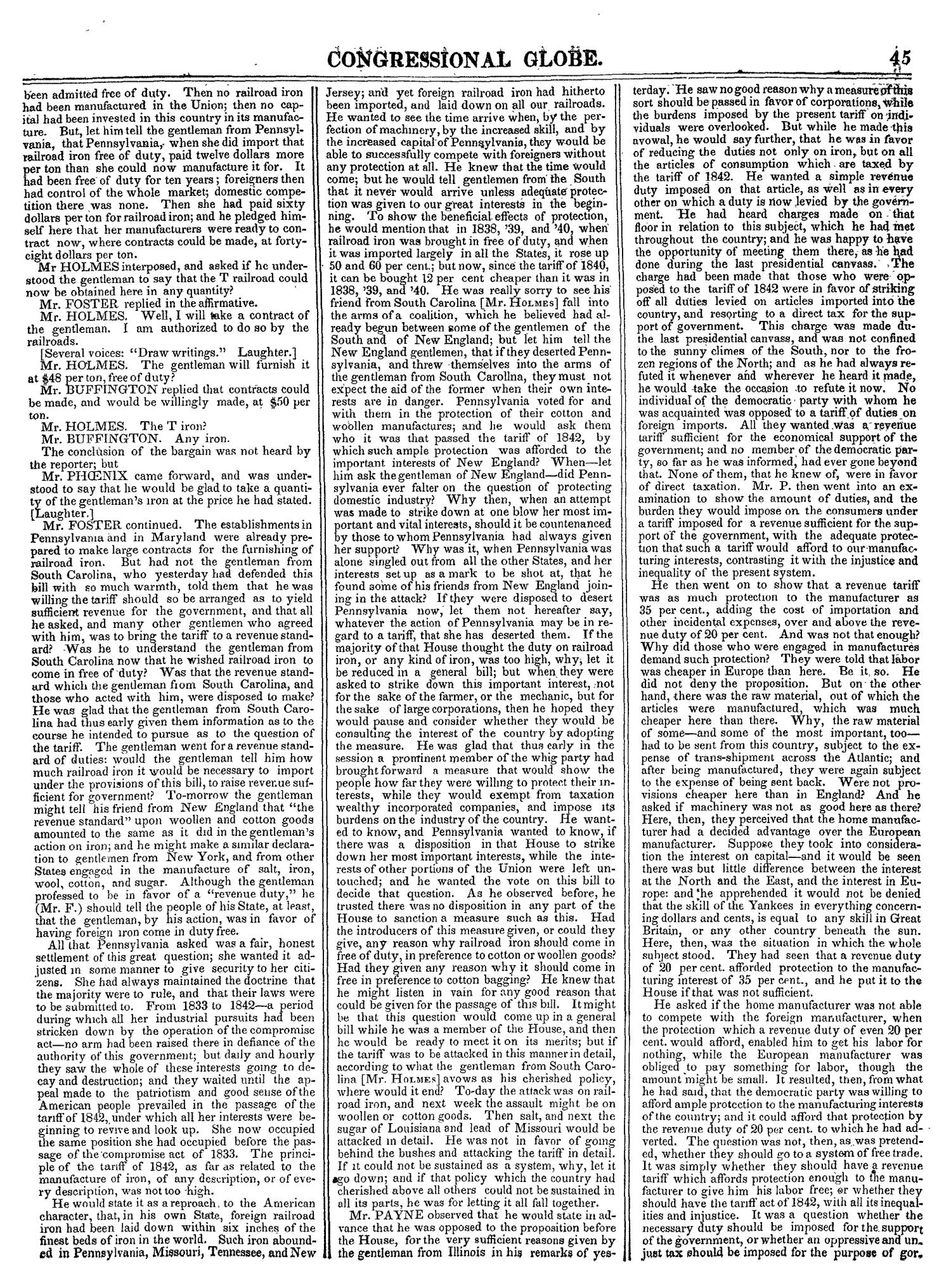 The Congressional Globe, Volume 14: Twenty-Eighth Congress, Second Session                                                                                                      45
