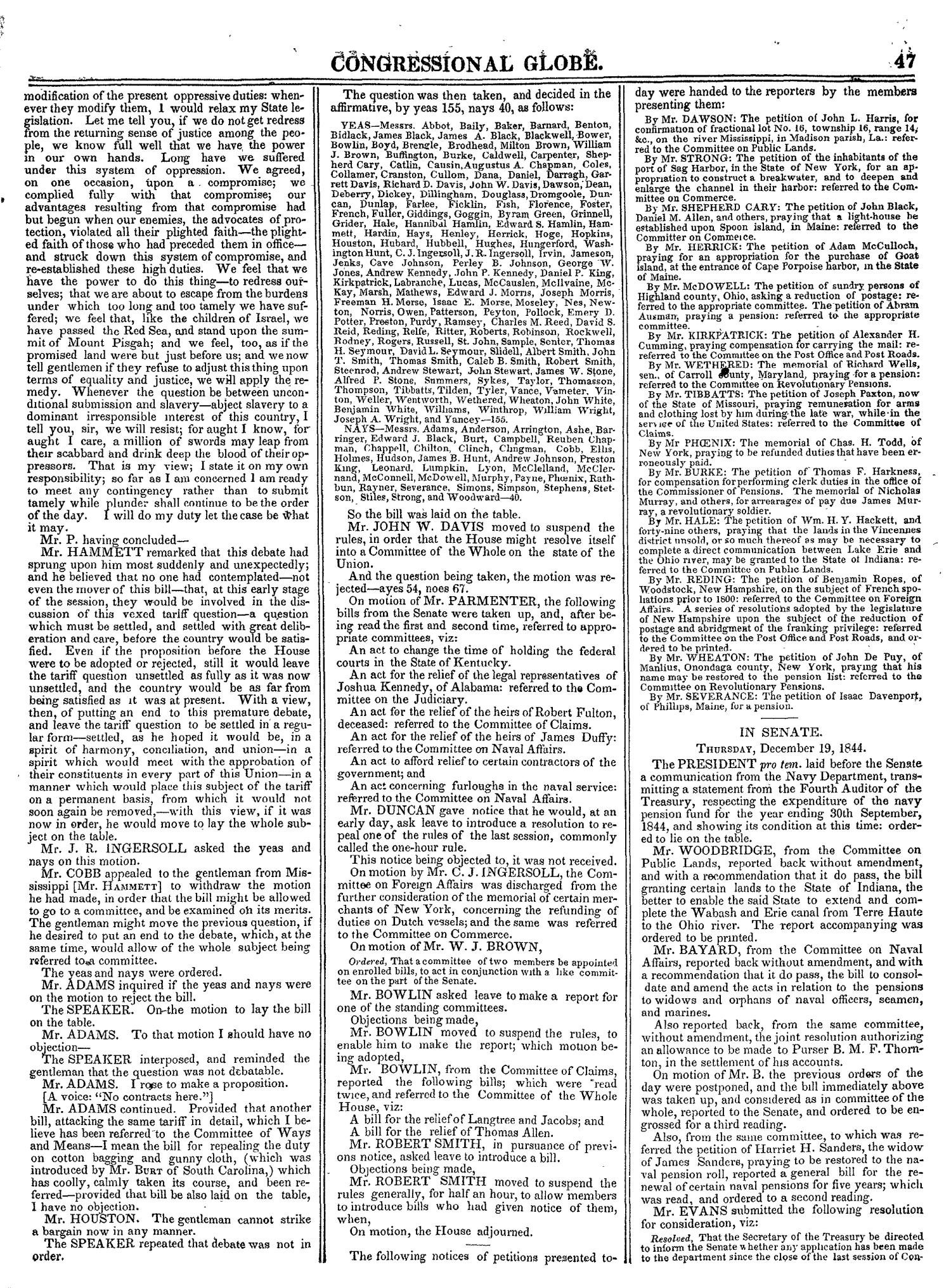 The Congressional Globe, Volume 14: Twenty-Eighth Congress, Second Session                                                                                                      47