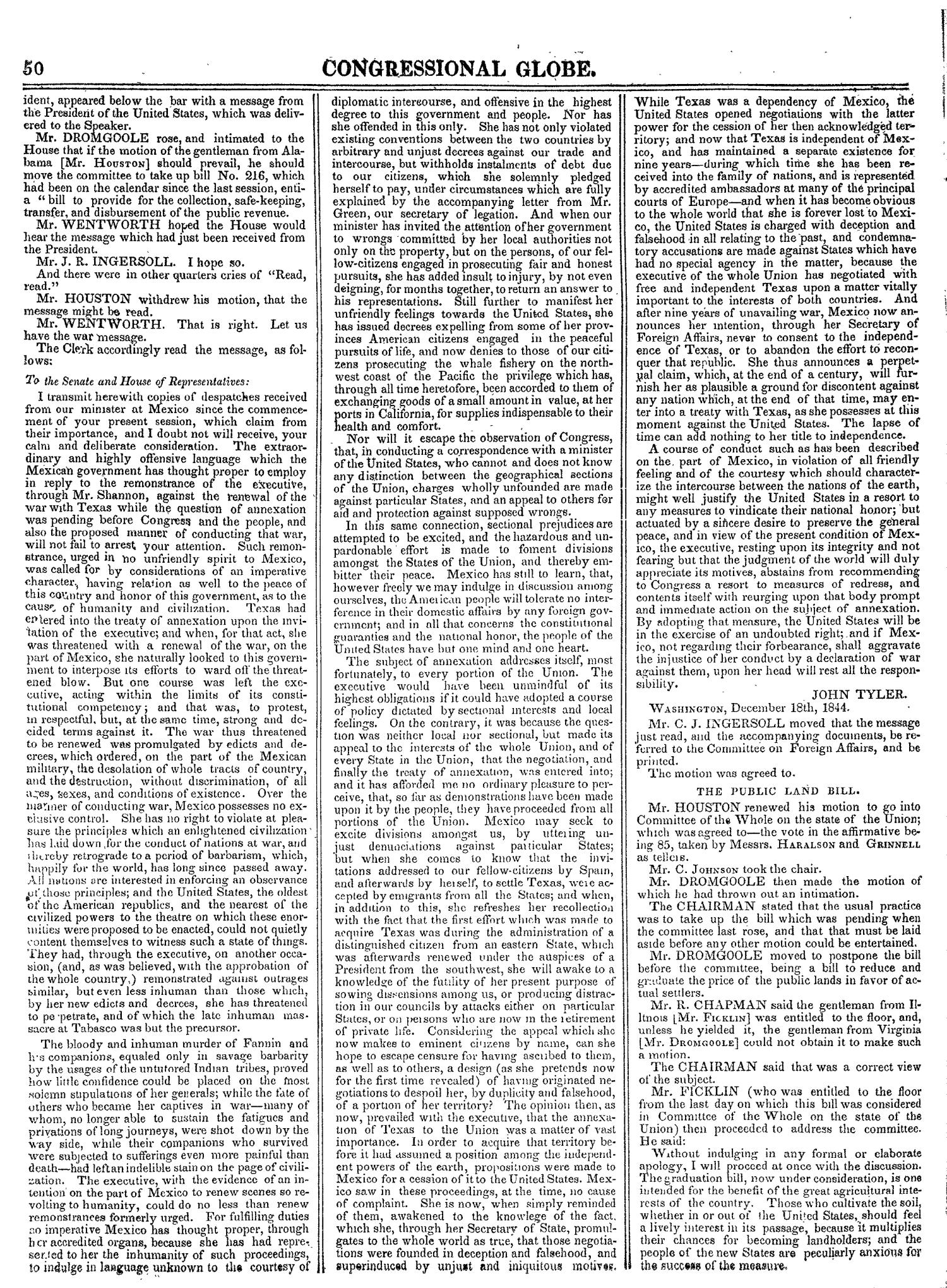 The Congressional Globe, Volume 14: Twenty-Eighth Congress, Second Session                                                                                                      50