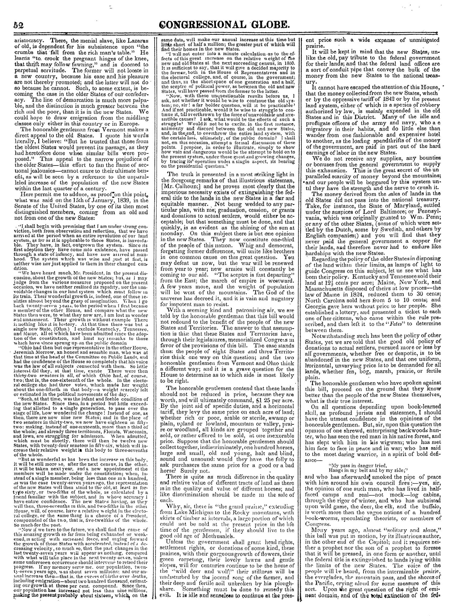 The Congressional Globe, Volume 14: Twenty-Eighth Congress, Second Session                                                                                                      52